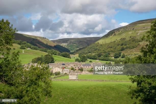 The village of Muker in Swaledale, Yorkshire Dales national park, England