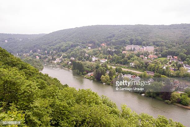 The village of Profondeville along the Meuse river