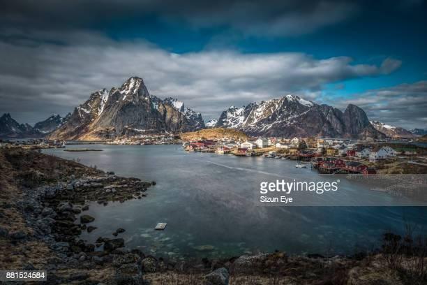 The village of Reine in the Moskenesøya Island in Lofoten Archipelago, Nordland county in Norway.