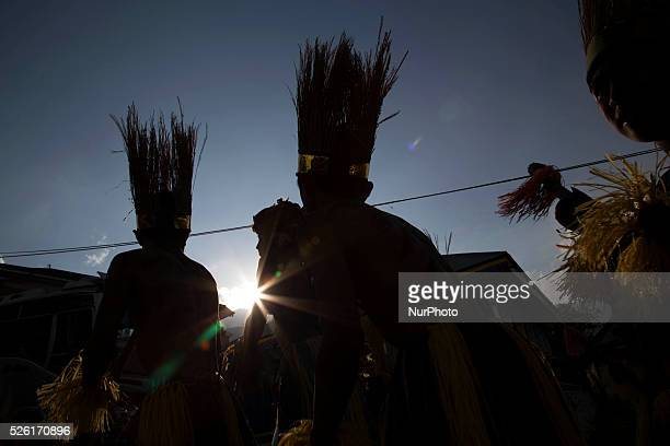 The villagers karnaval at Dieng Dieng plateau in Central Java is part of the district of Banjarnegara and Wonosobo regency It lies to the west of...