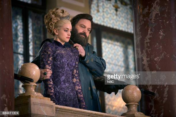 CITY 'The Villain That's Become' Episode 109 Pictured Stefani Martini as Lady Ev Vincent D'onofrio as Wizard