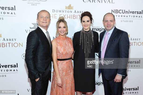 EXHIBITION The VIP Opening of Downton Abbey The Exhibition Pictured Kevin MacLellan Chairman Global Distribution International NBCUniversal Joanne...