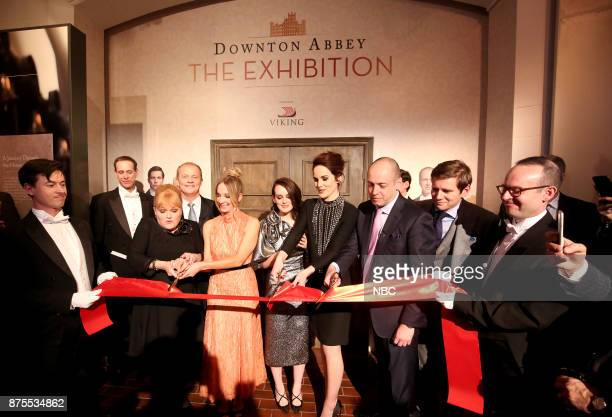 EXHIBITION The VIP Opening of Downton Abbey The Exhibition Pictured Lesley Nicol Joanne Froggatt Sophie McShera Michelle Dockery Gareth Neame Series...