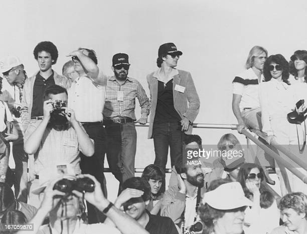 The VIP viewing area at the Kennedy Space Center in Florida as the space shuttle Columbia takes off for the first time 12th April 1981 Directors...