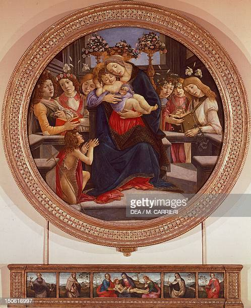 The Virgin and Child with St John and Angels 14901495 by Sandro Botticelli tempera on wood 170 cm in diameter