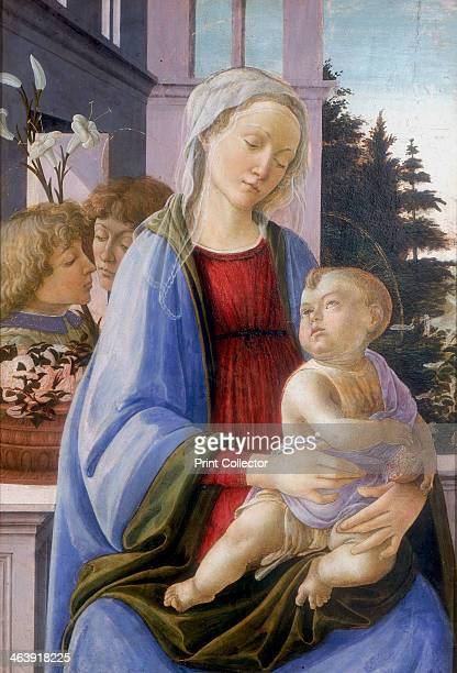 'The Virgin and Child with Two Angels' 14721475 Also called 'The Virgin of the Pomegranate' The infant Christ holds a pomegranate the symbol of his...