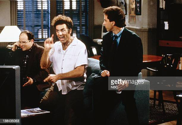 SEINFELD 'The Virgin' Episode 10 Pictured Jason Alexander as George Costanza Michael Richards as Cosmo Kramer Jerry Seinfeld as Jerry Seinfeld