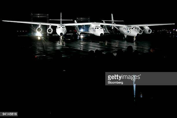 The Virgin Galactic Spaceship 2 the world's first commercial spacecraft is unveiled in Mojave California US on Monday Dec 7 2009 UK billionaire...
