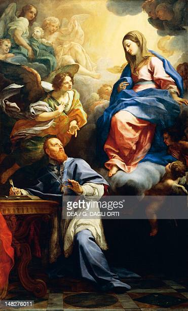 The Virgin with Child appearing to St Francis de Sales by Carlo Maratta oil on canvas 335x205 cm Forlì Pinacoteca Civica
