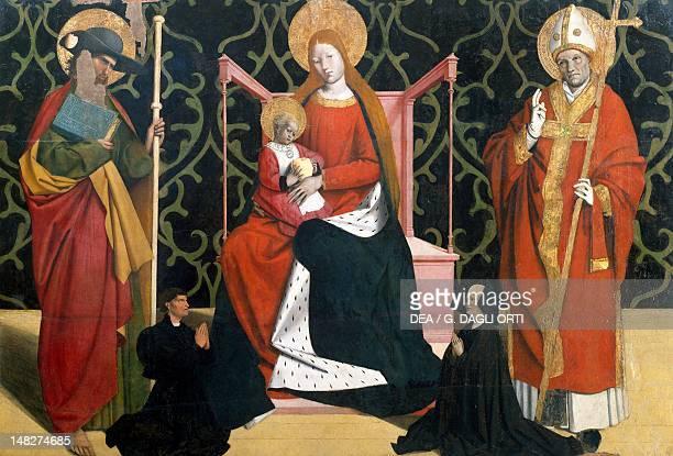 The Virgin with Child between St James and a bishop 14441445 by Enguerrand Quarton panel Avignon Musée Du Petit Palais