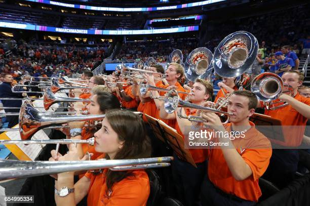 The Virginia band plays during action against Florida in the second round of the NCAA Tournament at the Amway Center in Orlando Fla on Saturday March...