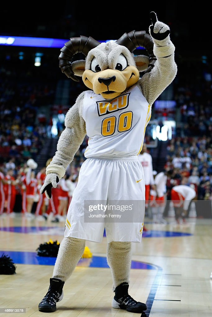 The Virginia Commonwealth Rams mascot performs before the Virginia Commonwealth Rams play the Ohio State Buckeyes during the second round of the 2015...