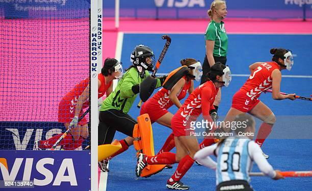 The Visa International invitational Women's Hockey Tournament Argentina vs Republic of Korea at the Riverbank Arena London Olympic Park 4 May 2012...