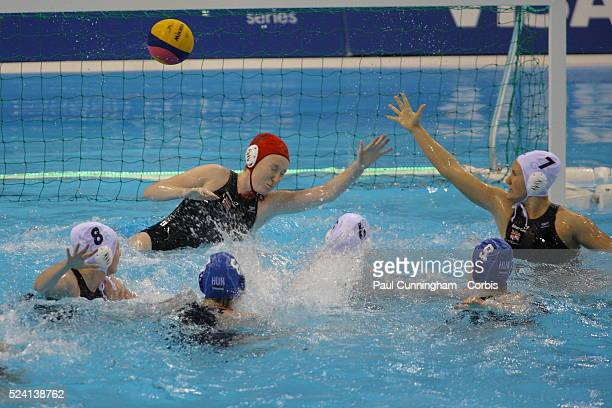 The Visa Water Polo International Women's competition Great Britain vs Hungary at the Water Polo Arena London Olympic Park 4 May 2012 Image by © Paul...