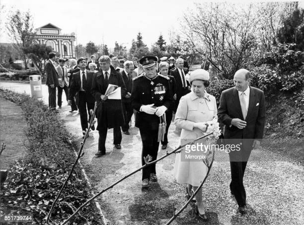 The visit to Liverpool of Her Majesty Queen Elizabeth II and Prince Philip Duke of Edinburgh to officially open the International Garden Festival...