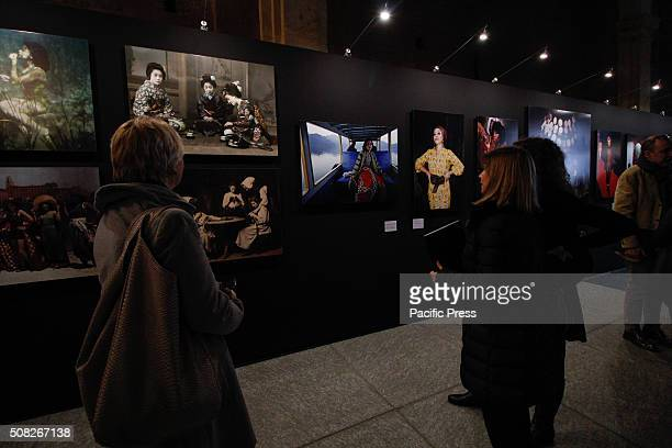The visitors are checking out the photos during the 'Fashion' exhibit From 4 February to 2 May 2016 Palazzo Madama hosts the photo exhibition called...