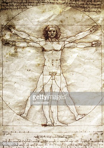 The Vitruvian Man by Leonardo da Vinci