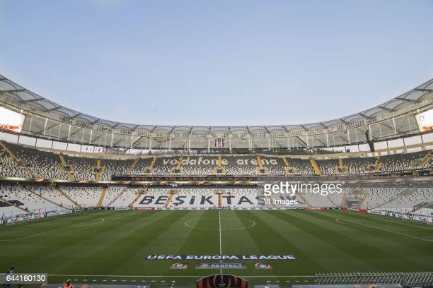 the Vodafone Arenaduring the UEFA Europa League round of 16 match between Besiktas JK and Hapoel Beer Sheva on February 23 2017 at the Vodafone Arena...