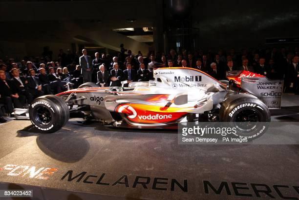 The Vodafone McLaren Mercedes MP423 on display during the launch of the Vodafone McLaren Mercedes MP423 at the MercedesBenz Museum Stuttgart