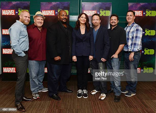 S GUARDIANS OF THE GALAXY The voice cast and creative team at the 'Marvel's Guardians of the Galaxy' event in Burbank California 'Marvel's Guardians...