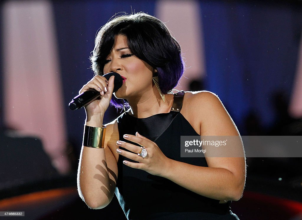 'The Voice' Season 5 winner Tessanne Chin performs at the 26th National Memorial Day Concert on May 24 2015 in Washington DC