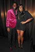 The Voice UK 2014 winner Jermain Jackman and Mica Paris attend 'An Evening With Mitch Winehouse' in aid of the Amy Winehouse Foundation at The...