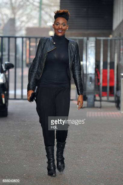The Voice UK contestant Stacey Skeete seen at the ITV Lorraine studios on February 13 2017 in London England