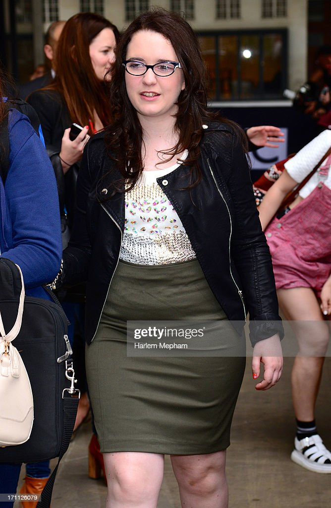 'The Voice UK' series 2 contestant Andrea Begley sighted at BBC Radio One studios on June 21, 2013 in London, England.