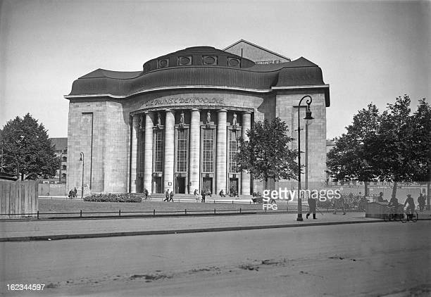 The Volksbühne or People's Theatre in Berlin circa 1954 It is celebrating the 40th anniversary of its inauguration