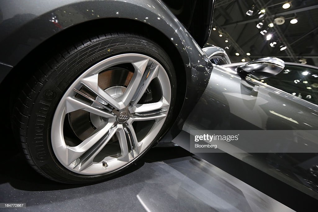 The Volkswagen AG Audi S8 vehicle stands on display during the press day of the Seoul Motor Show in Goyang, South Korea, on Thursday, March 28, 2013. The show runs from today until April 7. Photographer: SeongJoon Cho/Bloomberg via Getty Images