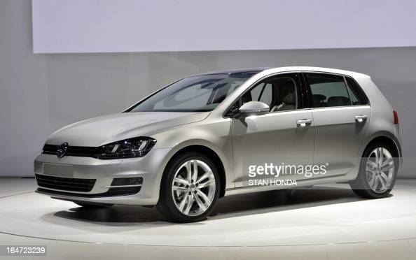 The Volkswagen Golf is unveiled during the first press preview day at the New York International Auto Show March 27 2013 in New York AFP PHOTO/Stan...