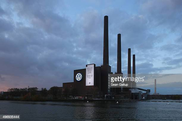 The Volkswagen logo as well as a banner that reads 'We need transparency openness energy and courage And above all we need you' adorns the main...