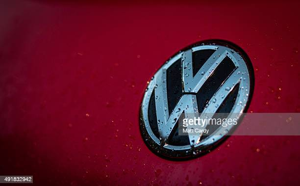 The Volkswagen logo is seen at a car dealership on October 8 2015 in Bath England As the scandal surrounding Volkswagen and other motor manufacturers...