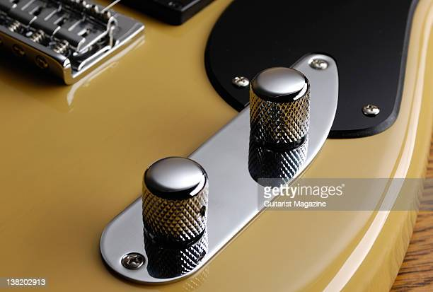 The volume and tone controls of a Fender 51 electric guitar During a studio shoot for Guitarist Magazine May 3 2011