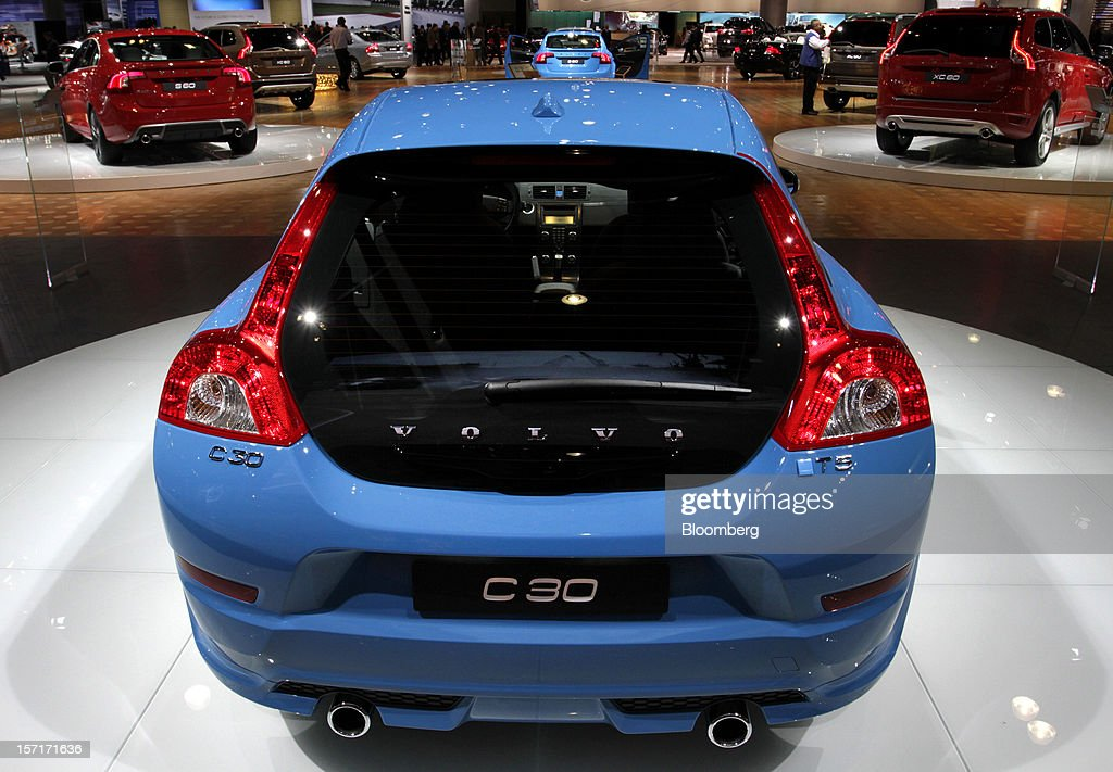 The Volvo AB C30 vehicle sits on display at the company's booth during the LA Auto Show in Los Angeles, California, U.S., on Thursday, Nov. 29, 2012. The LA Auto Show is open to the public Nov. 30 through Dec. 9. Photographer: Jonathan Alcorn/Bloomberg via Getty Images