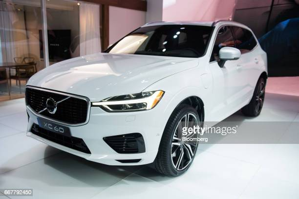 The Volvo AB XC60 vehicle sits on display during the 2017 New York International Auto Show in New York US on Wednesday April 12 2017 The New York...