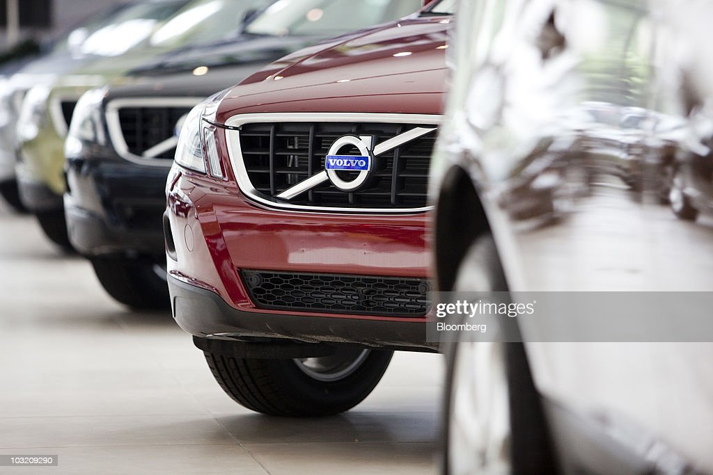 The Volvo automobile logo adorns the grill on one of the company's sedans at a dealership in Beijing China on Tuesday Aug 3 2010 Zhejiang Geely...