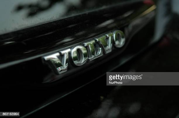 The Volvo logo is seen on a car in Bydgoszcz Poland on 19 October 2017