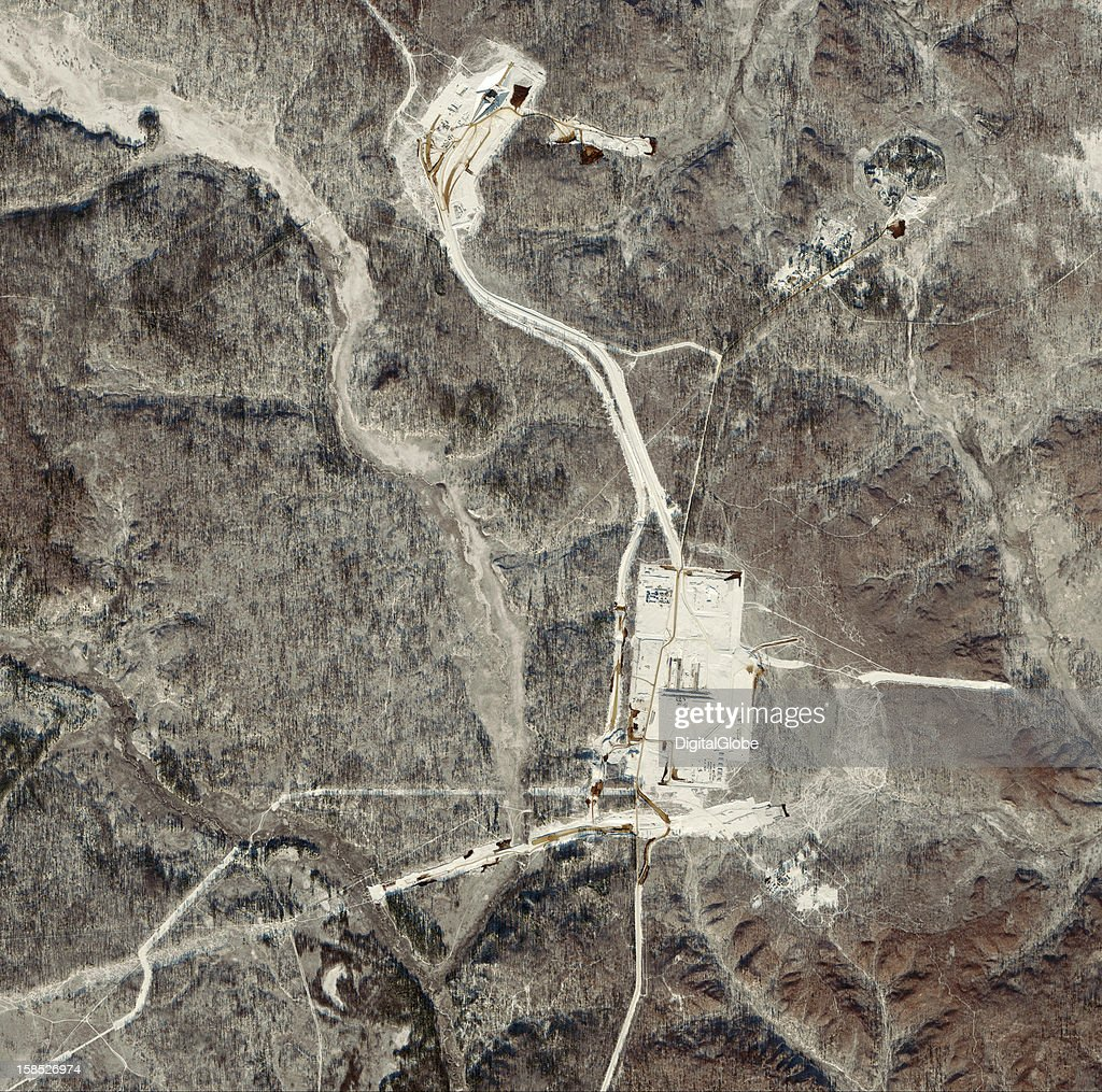 The Vostochny Cosmodrome is under construction at Russia's Amur region near Uglegorsk, Russia as seen on this satellite image from November 14, 2012. The new cosmodrome is planned to eventually have seven launch pads. Russia plans to transition 90 percent of its space launches from the Baiknour Cosmodrome to the Vostochny Cosmodrome by 2030.