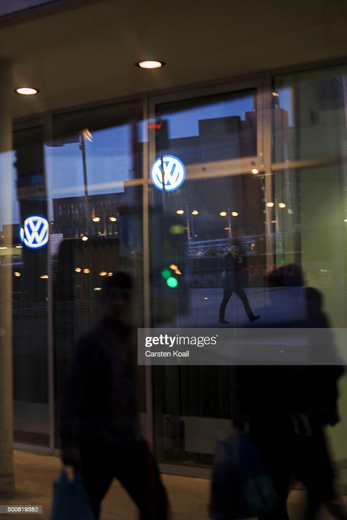 The VW brand of the Volkswagen is seen in a reflection on December 10, 2015 in Wolfsburg, Germany. Wolfsburg is the base for the car manufactury Volkswagen group. Volkswagen is continuing to grapple with the consequences after it admitted installing software that cheats during emissions tests into 11 million of its diesel cars sold worldwide.