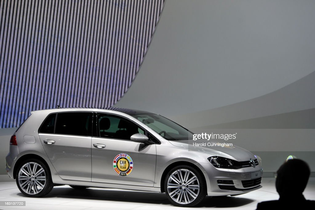 The VW Golf, named European Car of the Year 2013, is seen during the 83rd Geneva Motor Show on March 5, 2013 in Geneva, Switzerland. Held annually the Geneva Motor Show is one of the world's five most important auto shows with this year's event due to unveil more than 130 new products.