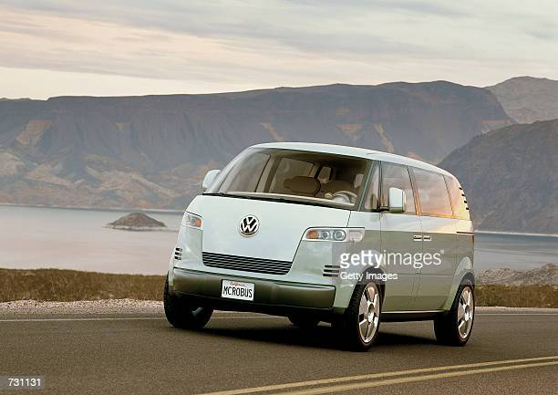 The VW Microbus concept car which Volkswagen is planning to build for US markets but isn't expected to go on sale before the second half of 2005 is...