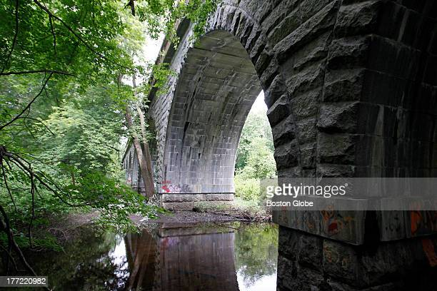 The Waban Arches are among the landmarks along the aqueduct trail in Wellesley Massachusetts July 2 2013