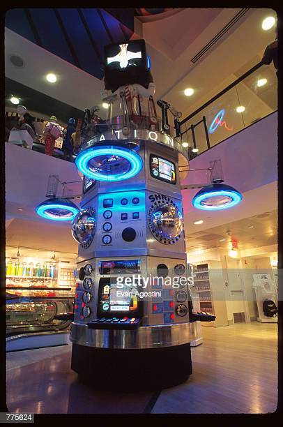 The Wacky ACME lab area is on display at the Warner Bros Studio store October 23 1996 in New York City The store originally a three floor specialty...