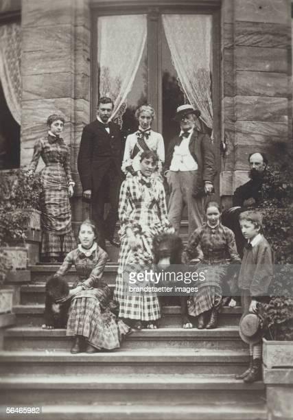 The Wagner familiy with friends Blandine von Buelow Isolde Wagner Heinrich von Stein Cosima Wagner Daniela von Buelow Richard Eva and Siegfried...