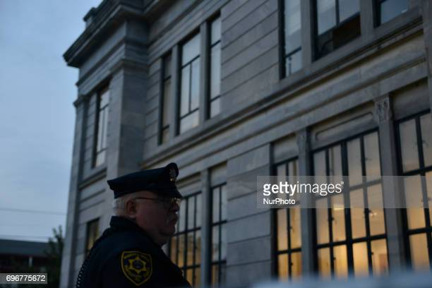 The wait is for the verdict in the indecent assault trail of entertainer Bill Cosby outside Montgomery Courthouse in Norristown Pennsylvania on June...