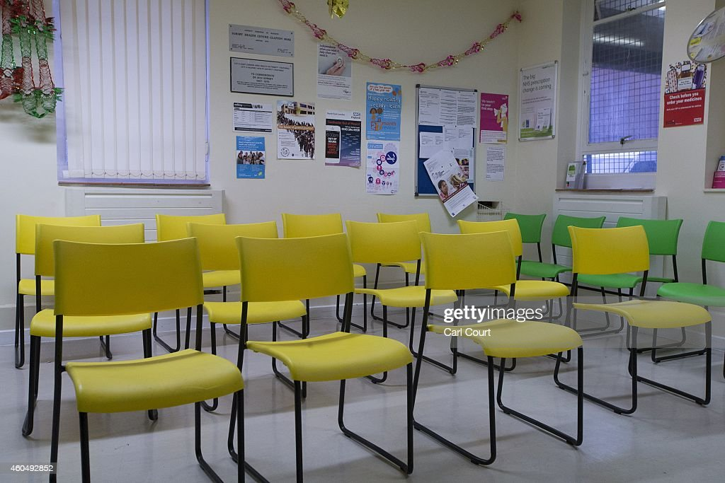 The waiting area of a General Practitioners surgery is pictured on December 4 2014 in London England Ahead of next years general election the...