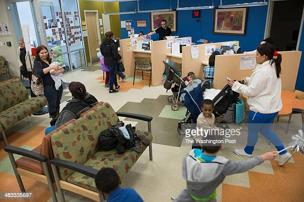The waiting room at Mary's Center in Washington DC on February 24 2014 Mary's Center is a nonprofit health center for the underserved uninsured or...