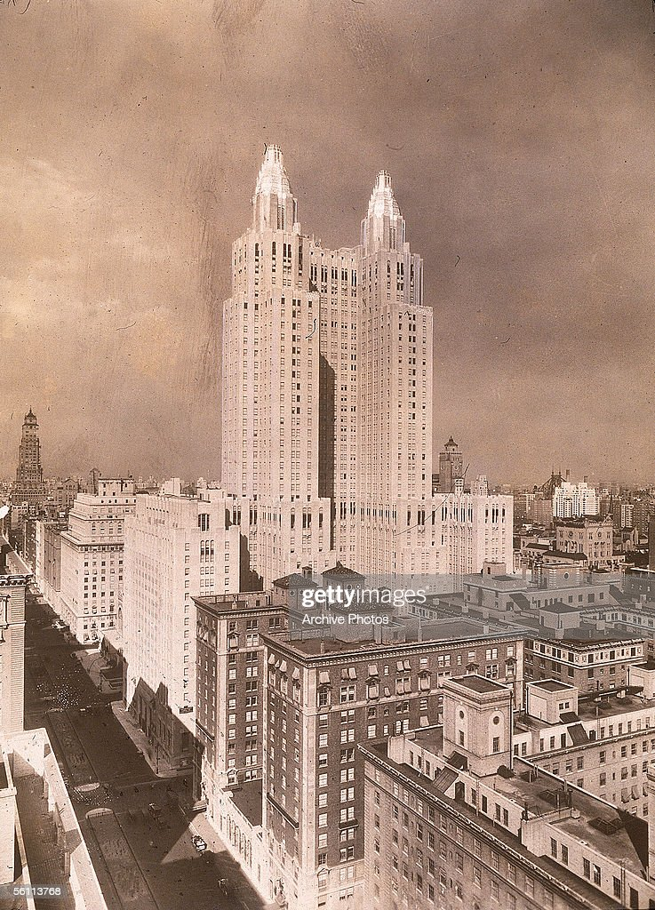 The Waldorf Astoria Hotel on Park Avenue and 49th Street The building which occupies a whole city block was completed in 1931