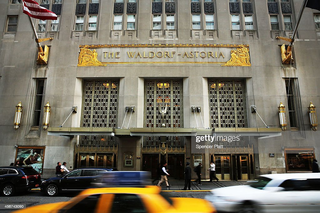The Waldorf Astoria the landmark New York hotel is viewed on October 6 2014 in New York City It was announced on October 6that Hilton Worldwide will...